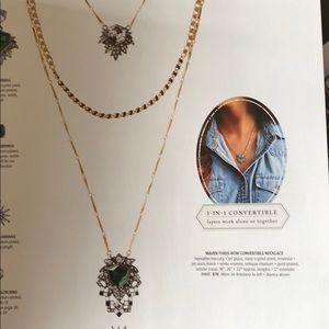 Maven 3 row convertible necklace